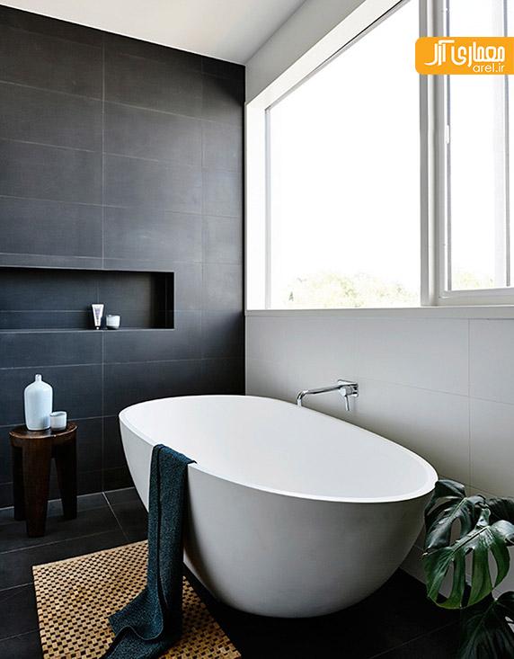 طراحی سرویس بهداشتی خاکستری و سفید