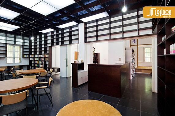 طراحی داخلی کتابخانه و مرکز بنیاد ژاپن در شهر هانوی