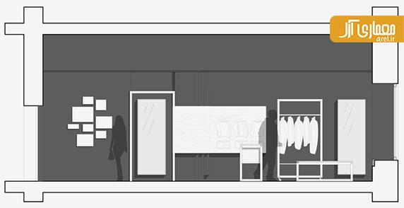 طراحی داخلی فروشگاه و شوروم textilerei