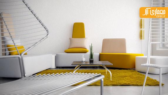 رنگ زرد،دکوراسیون داخلی نشیمن