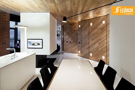 طراحی داخلی آپارتمان،آجر در طراحی داخلی