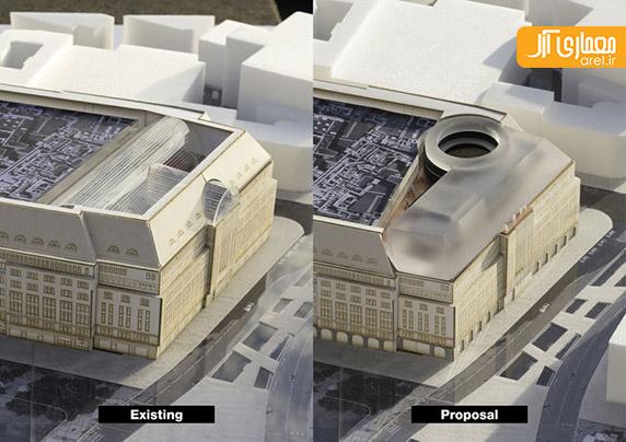 معماری ساختمان تجاری،رم کولهاس،بازسازی ساختمان تجاری