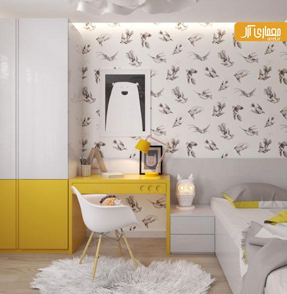 5 مورد طراحی داخلی خلاقانه و زیبای  اتاق خواب کودک