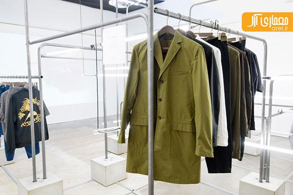 طراحی داخلی فروشگاه لباس MR PORTER