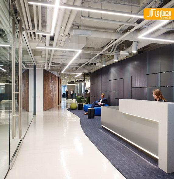 طراحی داخلی دفتر اداری شرکت آینده در شیکاگو