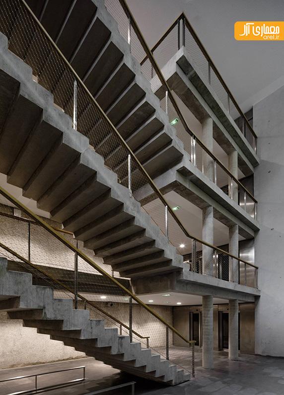 ساختمان پارکینگ 4 طبقه، بتن اکسپوز