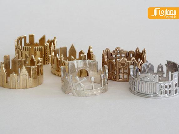 خلاقیت: طراحی حلقه با استفاده از خط آسمان شهر های معروف دنیا