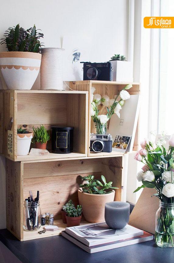 طراحی جزئی: استفاده از جعبه های چوبی در طراحی داخلی منزل