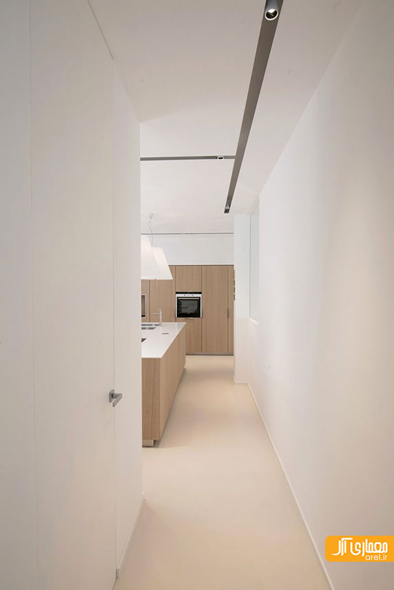 طراحی داخلی آپارتمان مینیمال روشن و سفید