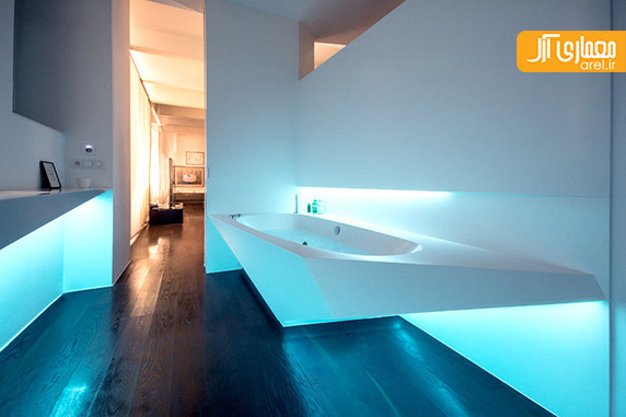 طراحی سرویس بهداشتی مدرن-نمونه حمام مدرن