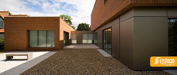 طراحی نمای آجری،معماری ساختمان ویلایی