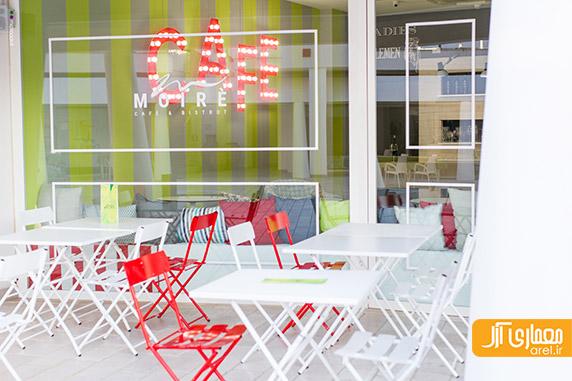 طراحی داخلی کافه بار Moire - استفاده از رنگ های خاص   آرل