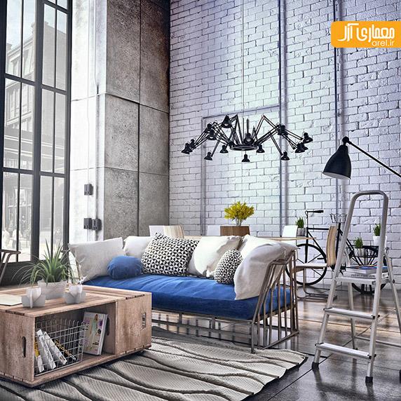 طراحی داخلی مدرن،بتن اکسپوز،دکوراسیون منزل