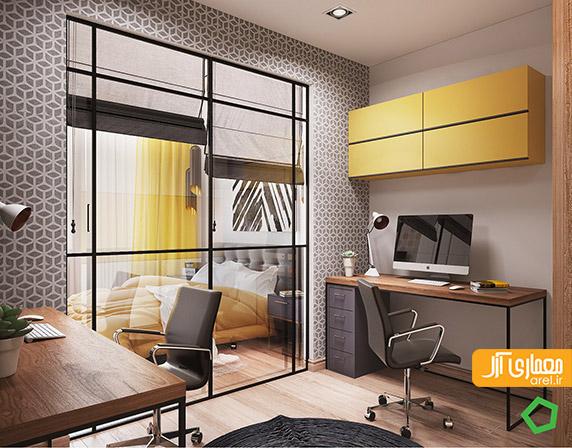 طراحی داخلی منزل، رنگ زرد در طراحی داخلی