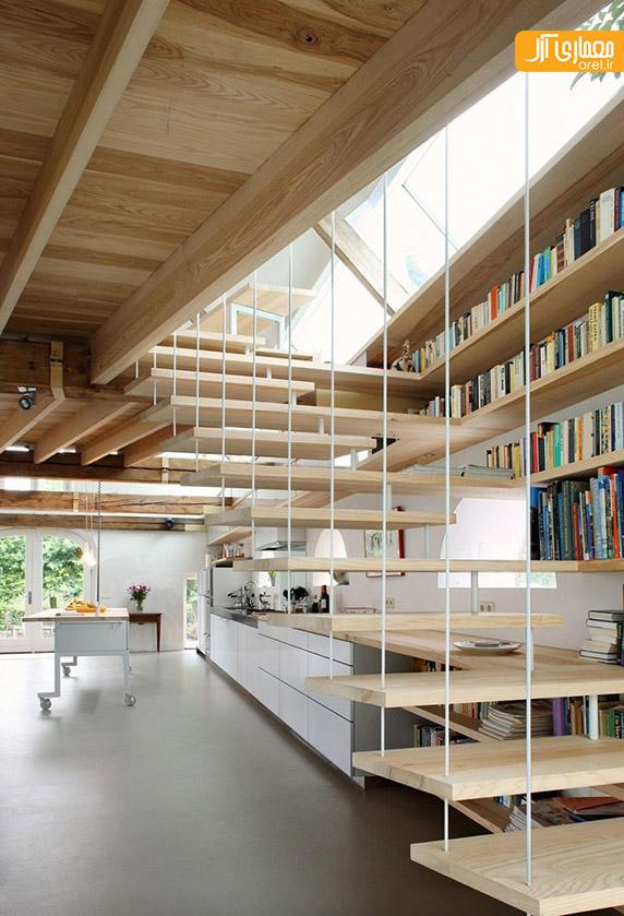 کتابخانه زیر راه پله،ساخت کتابخانه در خانه