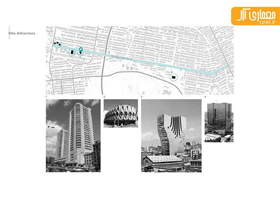 طراحی ساختمان جدید و چند منطوره بانک پاسارگاد، رضا دانشمیر