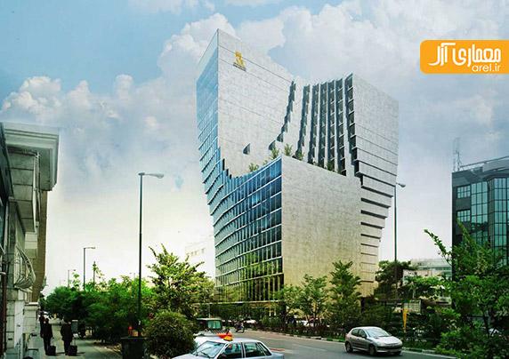 طراحی ساختمان جدید و چند منظوره بانک پاسارگاد - رضا دانشمیر