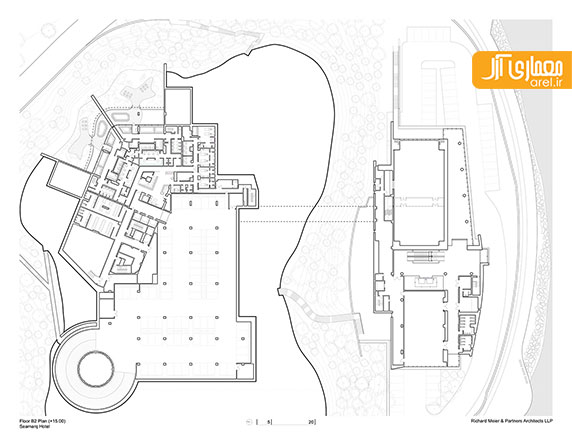 طراحی و معماری هتل SeaMarq توسط ریچارد میر