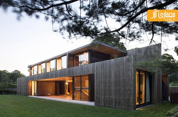 متریال چوب،نمای چوبی،معماری ساختمان ویلایی