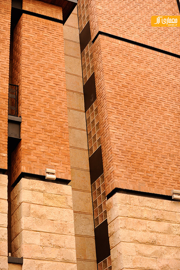 محمدرضا نیکبخت،طراحی نمای ساختمان،نمای آجری