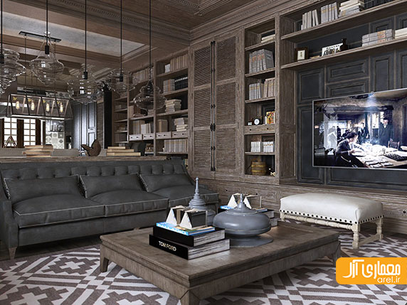 طراحی داخلی 2 آپارتمان لوکس و لاکچری به سبک نئو کلاسیک
