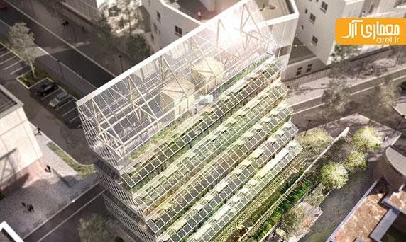 معماری پایدار: طراحی برج کشاورزی به شکل زیگورات در شهر پاریس