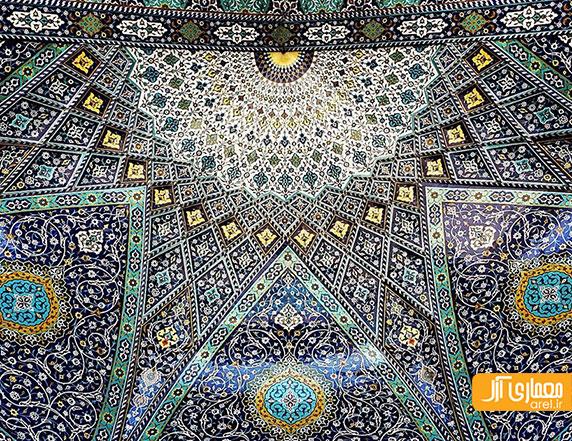 هنر عکاسی و دیتیل های معماری ایرانی در سقف ها