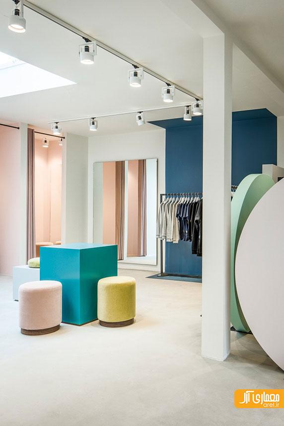 طراحی داخلی زیبای فروشگاه لباس پلیکان در آمستردام