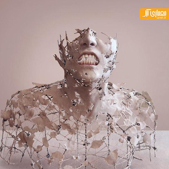 مجسمه های انسانی با سیم و کاغذ،مجسمه های هنری،خلاقیت
