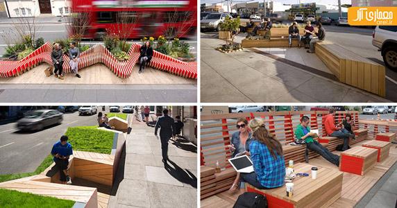 نیمکت در طراحی شهری