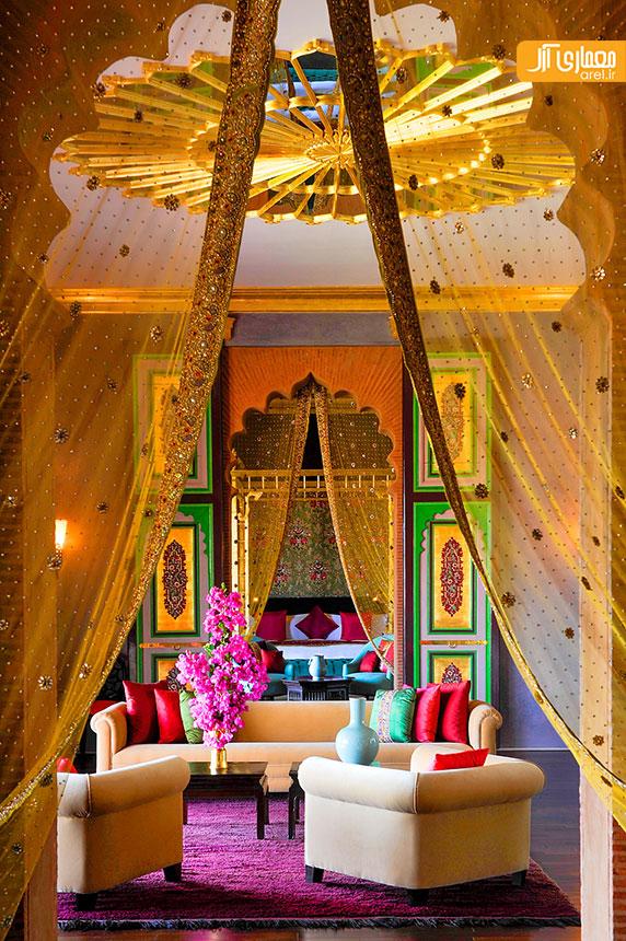 طراحی و معماری داخلی لوکس و بومی هتل قصر ساهارا