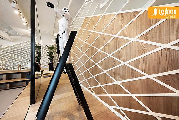 طراحی داخلی دفتر اداری برند سامسونگ در شهرسئول