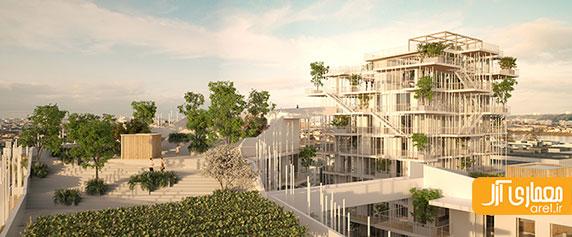 معماری پارامتریک: طراحی مجتمع مسکونی سبز در فرانسه