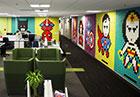 قهرمانان بر روی دیوار، خلاقیتی برای ایجاد تنوع در محیط کار