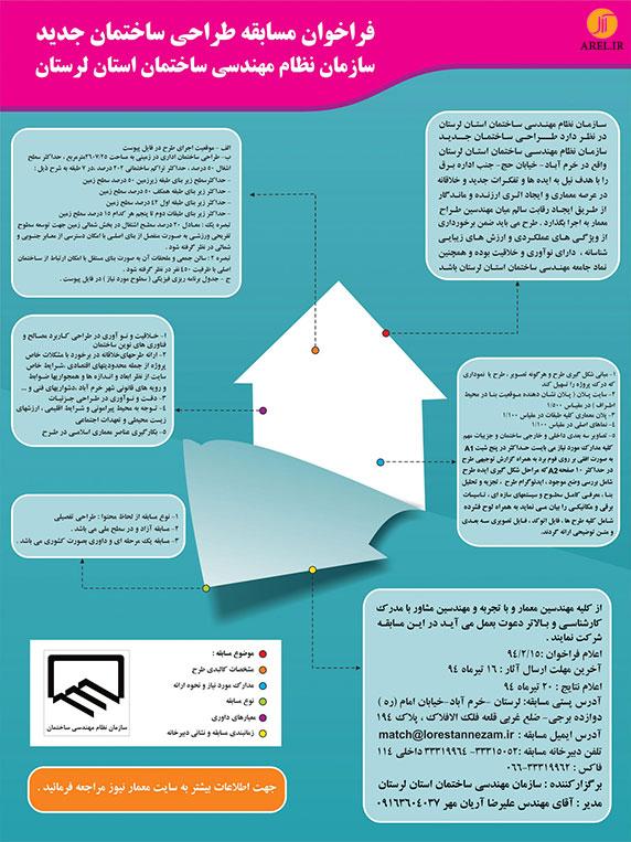 مسابقه طراحی ساختمان جدید سازمان نظام مهندسی استان لرستان