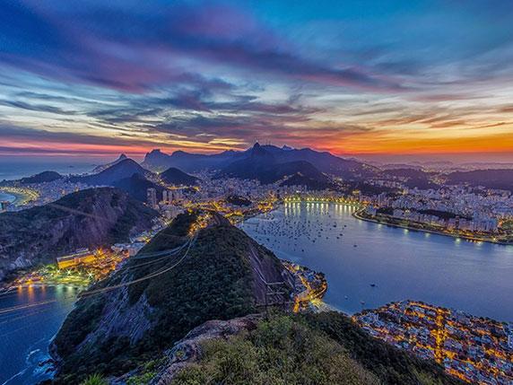 غروب خورشید در ریو
