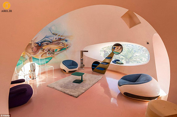 قصر حبابها در فرانسهaمعماری و طراحی  هتل