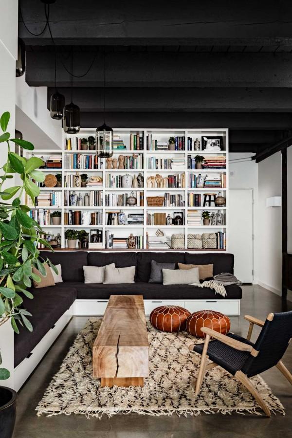 کاربرد کتابخانه ی خانگی در طراحی داخلی