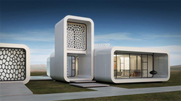 ساختمان اداری ساخته شده توسط چاپگرهای سه بعدی