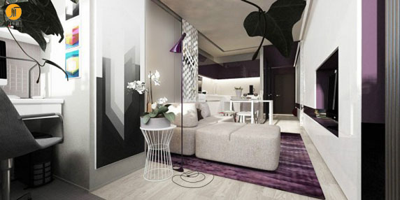طراحی داخلی 2 آپارتمان کوچک با مساحت زیر30  متر مربع