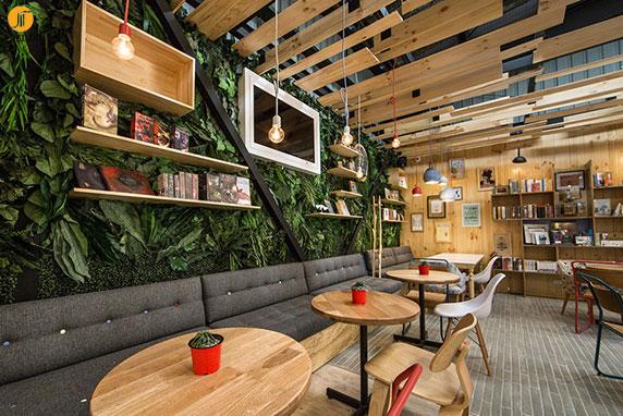 طراحی داخلی کافه کتاب