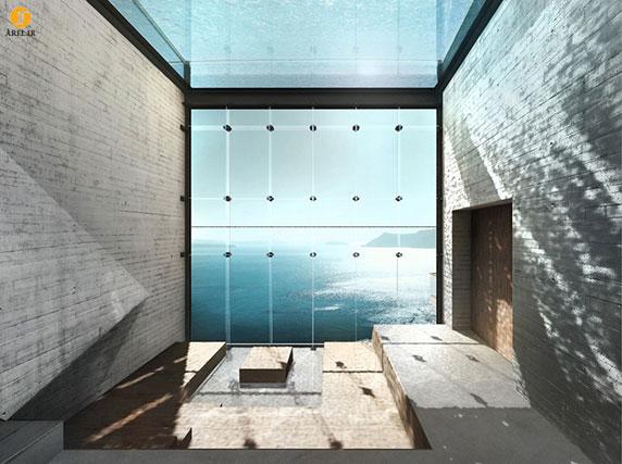 طراحی و معماری خانه ای در دل صخره ی رو به دریا