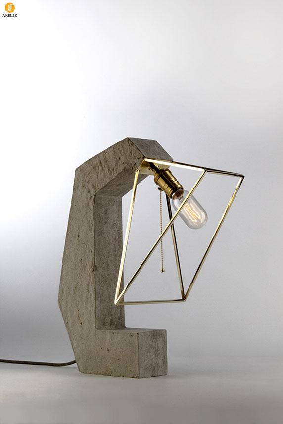 طراحی چراغ مطالعه با پایه ی بتنی