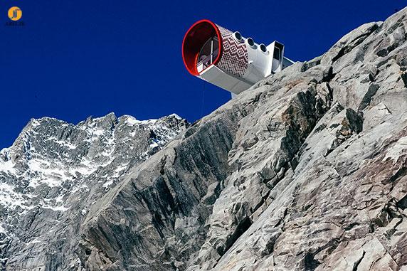 طراحی و معماری کلبه ای برای ارتفاعات کوه ها
