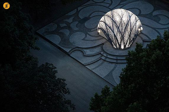 طراحی غرفه با فیبر کربن