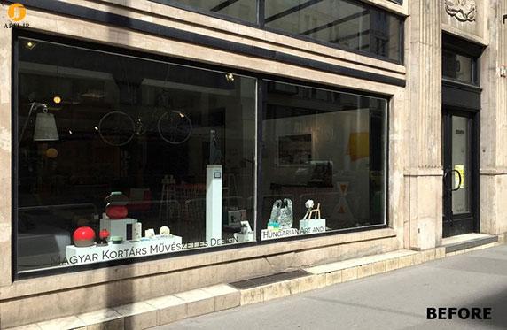طراحی جزئی ویترین مغازه شبیه آکواریوم