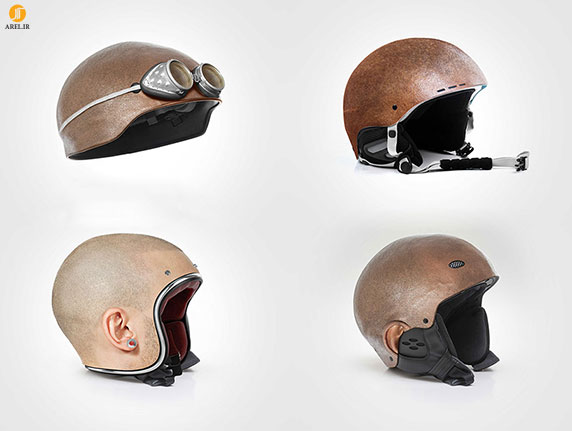 خلاقیت : کلاه های ایمنی در شکل سر انسان