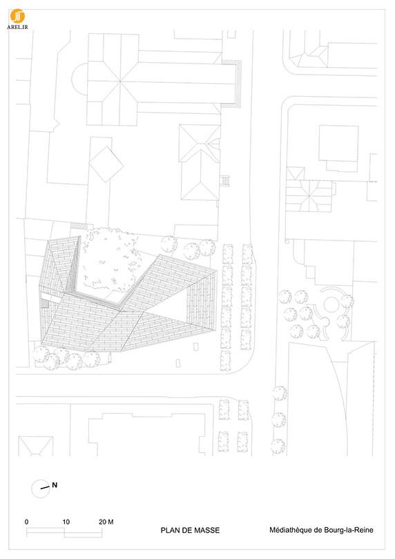 طراحی و معماری کتابخانه با حفظ یک درخت قدیمی