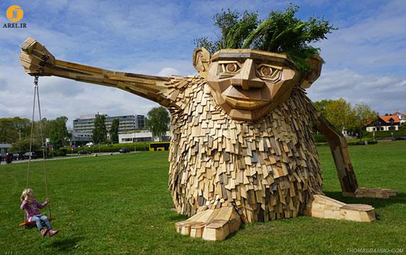 ساخت مجسمه با استفاده از چوب
