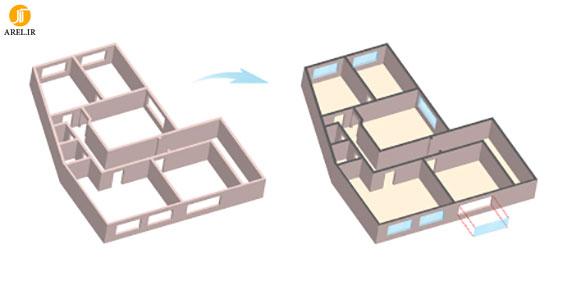 آموزش Illustrator : نحوه طراحی پلان سه بعدی در Illustrator